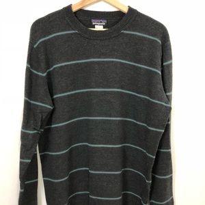 Patagonia Wool Sweater w/ Striped Pattern